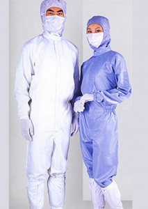 disposable non-woven PP coverall with elastic wrists and ankles