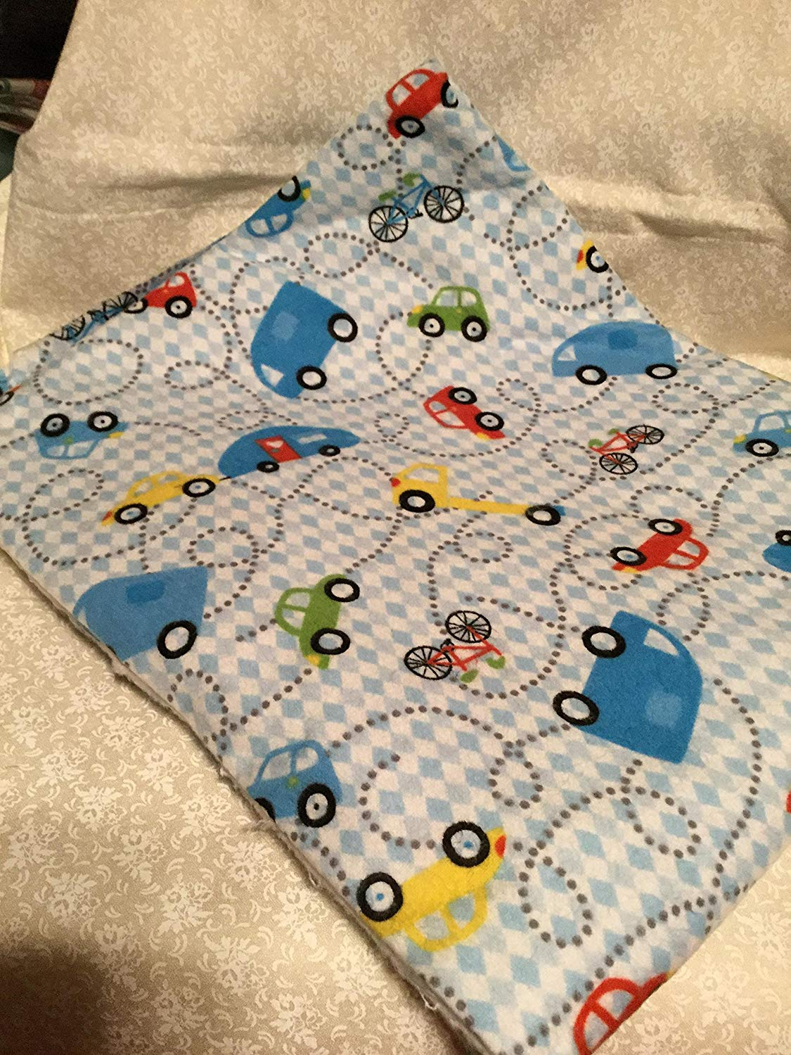 Baby Boy Cars Receiving Blanket Oversize e Double Sided