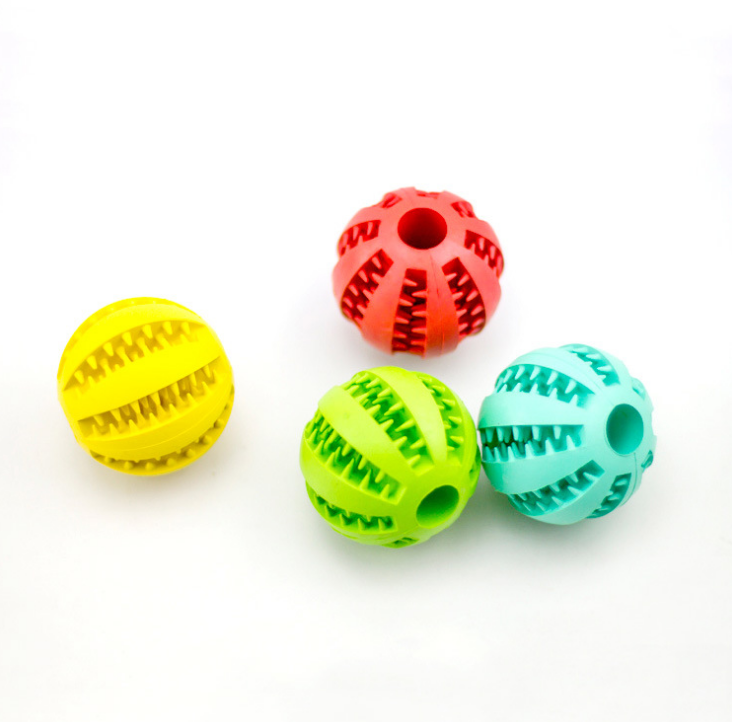 dog toys Pet molar toys bite resistant natural rubber ball medium and small Watermelon ball