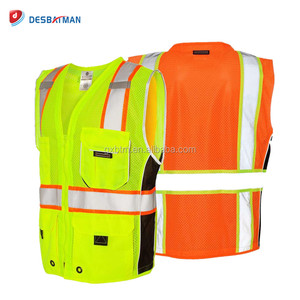 Cheap Heavy Duty ANSI Class 2 Reflective Safety Vest With Pockets 3M