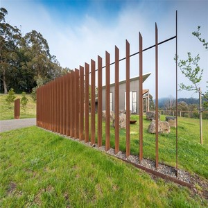 rusty metal corten steel cheap fence T posts for sale