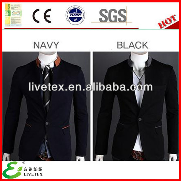 High quality nylon cotton spandex mens blazer fabric