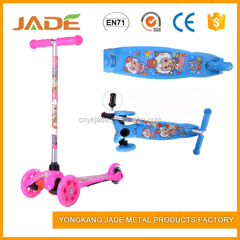 Colorful bicycle three wheel kids mini kick scooter for child