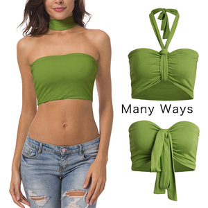 Wholesale Many Ways Of Wearing Soft Crop Top Big Hot Sexy Boob Tube Top