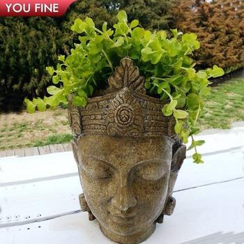 Outdoor Garden Bronze Head Planter And Pots For Sale