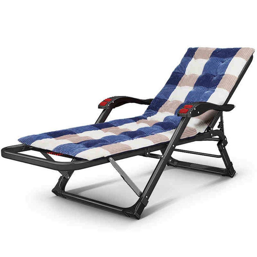 Rocking Chairs MEIDUO Folding bed Single bed Office siesta bed Home adult Camp bed Simple bed (Color : B(with cushion))