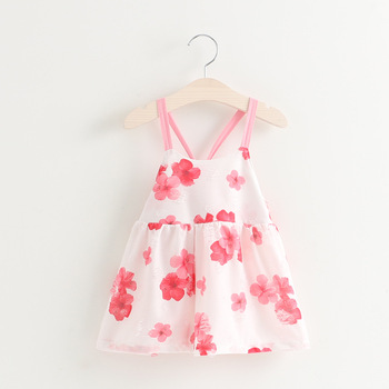 3697753bb B11082a Korea Style Kids Girl s Strapless Vest Dress Summer Cotton ...