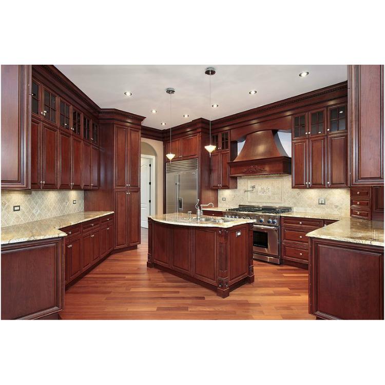 Mahogany Modular Kitchen Cabinet