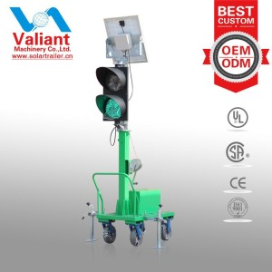 2015 New Design Mobile Solar Powered Traffic Lights