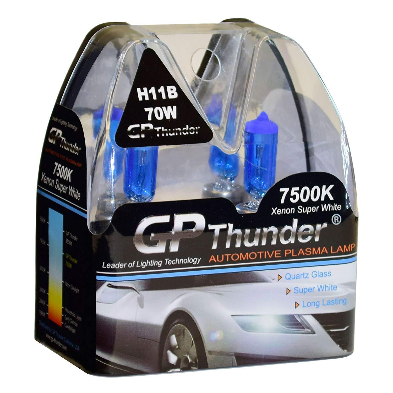 GP Thunder GP75-H11B Super White H11B 12V 70W Halogen Xenon Bulb with Quartz Glass (High Wattage 7500K 2 Bulbs)