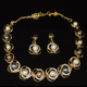 Maverick Wholesale Africa Party Gold Filled Jewelry Zinc Alloy Crystal necklace and earring set