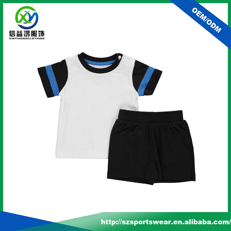 New Arrival Fashion High Quality Cotton Set of Kids Sport t shirt /short