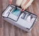 Home Shoe Foldable Canvas Fabric Bin Organization Underbed Storage Box Underbed Storage Bags