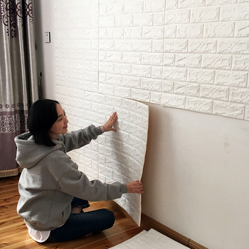 Brick Pattern 3d Wallpaper Xpe Pe Foam Self Adhesive Tape