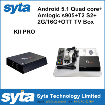 Promotional Metal H.264 Android 5.1 Google Internet Tv Box KII PRO