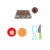 Preschool kids pretend play food toy plastic kitchen set