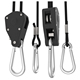 Heavy duty grow light rope hanger with ratchet, rope ratchet yo yo, metal hooks and hangers