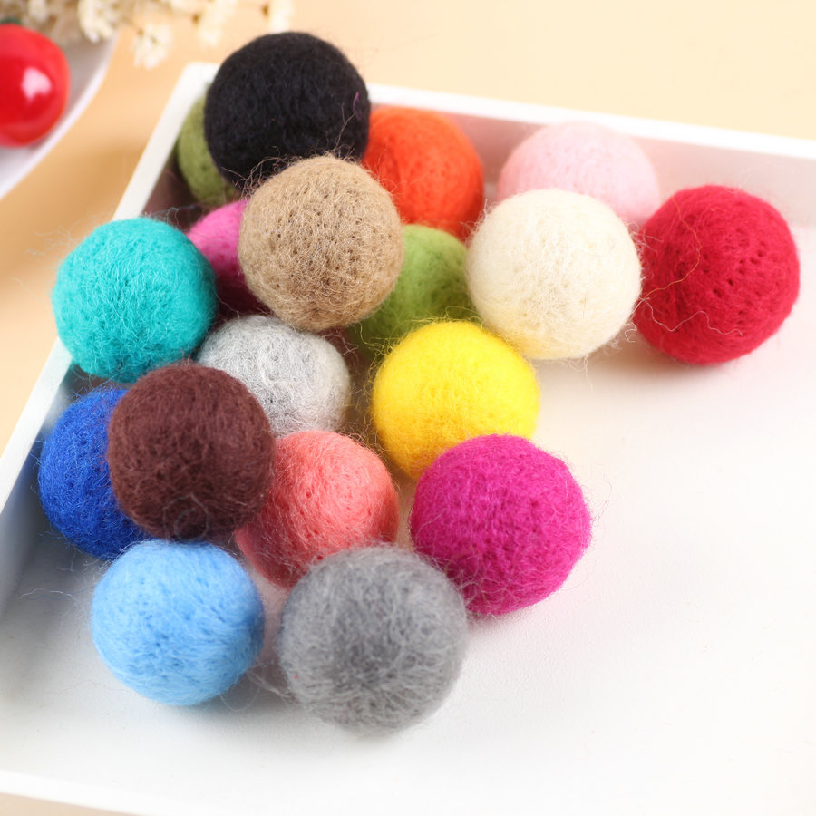 Wool Felt Balls Mixed Colour Craft Decoration