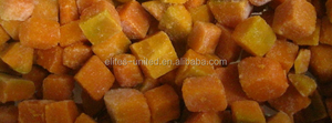 IQF frozen vegetable diced pumpkin