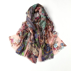 Factory directly merino wool silk scarf For ladies