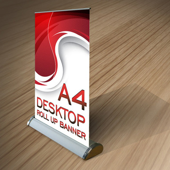 75531e876aeb55 Aluminium mini roll up banner retractable banners a3 table top banner
