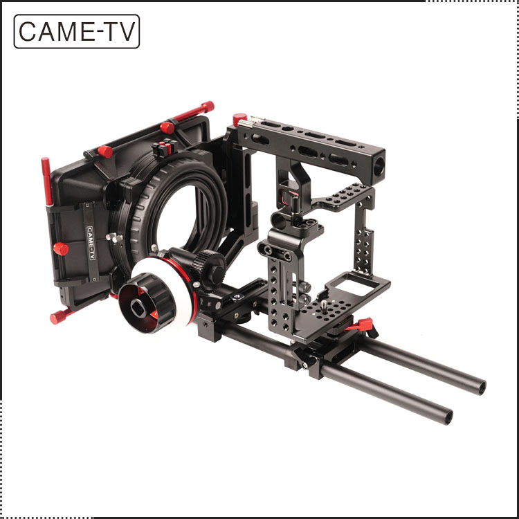 CAME-TV DSLR Camera Rigs W/ Mattebox Follow Focus For Sony A7S