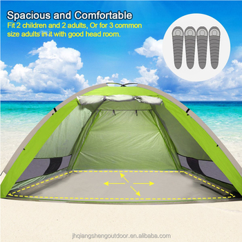 Large Beach Tent Instant Quick Up Cabana Anti Uv Portable Automatic Sun Shelter Sunshade