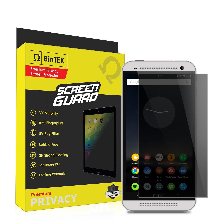 BinTEK Screen Guard HTC One Screen Protector Privacy Premium Scratch Resistant Privacy Screen Protector HTC One / Compatible with all HTC One models