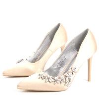 Ladies high quality sexy bride pumps fancy high heels shoes