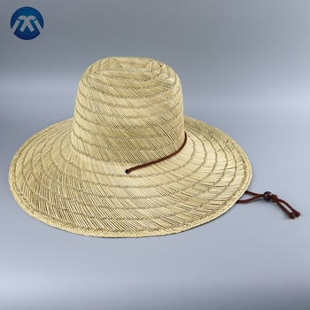 Custom surf outdoor neutral summer straw wholesale caps hats men straw hats a2e2ddb21aa