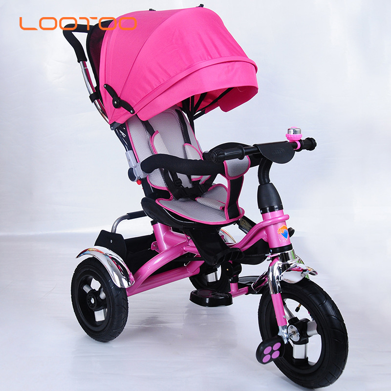 Online shopping rubber three wheels cycle aluminum alloy steel triciclo kids baby tricycle for russia india from hebei factory
