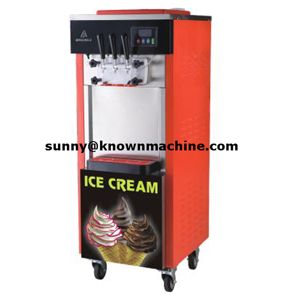 3 Flavor Rainbow Jam Commercial Soft Serve Ice Cream