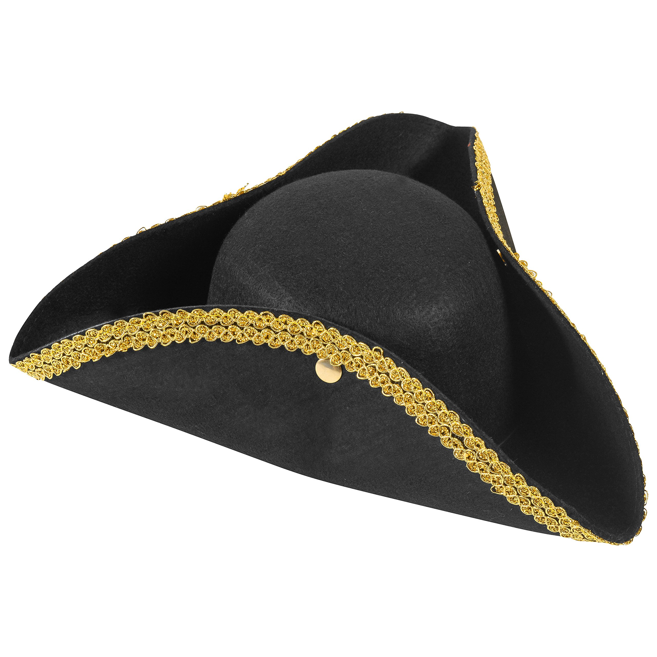 Get Quotations · Funny Party Hats Colonial Style Tricorn Hat -  Revolutionary War Deluxe Colonial Tricorn Hat a08252d2912