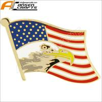 Enamel American Flag with Eagle Lapel Pin