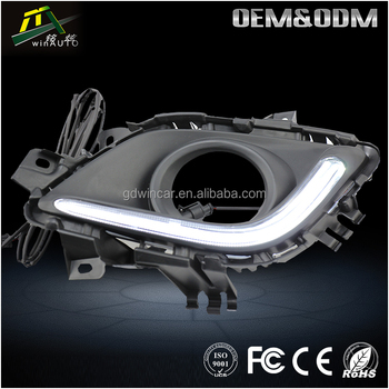 Wholesale super bright waterproof 12v led drl Auto accessory Led Work Light Daytime Running Light For Mazda 6 With Foglight