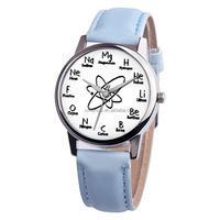 Montre Femme Hot Sale Women Watches Fancy Chemical Element Casual Leather Band Quartz WristWatch Fashion relogio feminino
