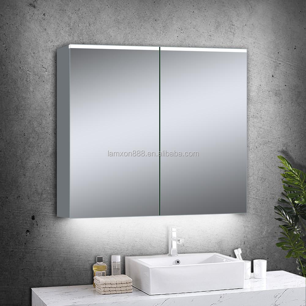 High-end Led Illuminated Mp3 Bluetooth Bathroom Mirror Cabinet For ...