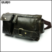 Rfid money belt leather waist pack bum bag