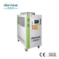 4HP Industrial Air Cooled Chiller With Water Pump And Water Tank For Plastic Injection Mould Machine Cooling