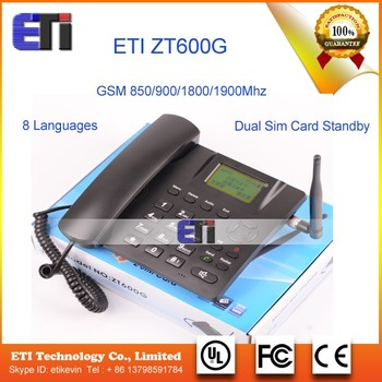 Zt600g Gsm Fixed Wireless Telephone Dual Sim Card Standby 8 ...