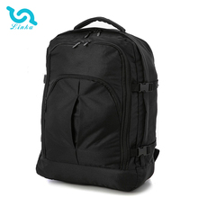 LINKA brand custom logo comfort polyester black lightweight aoking travel backpack