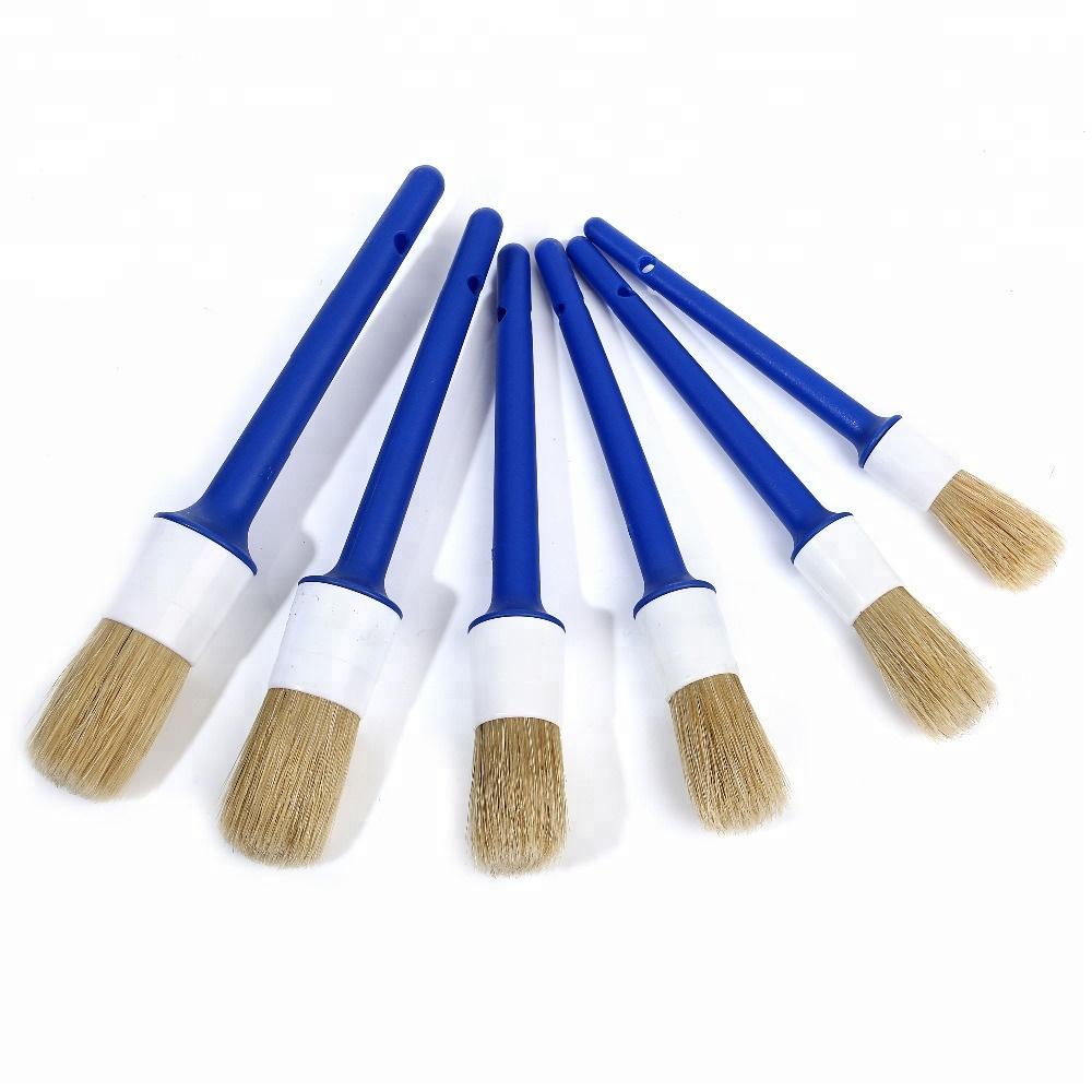 Peintre professionnel Pinceau Rond avec la Poignée En Plastique Bleue pour le marché Néerlandais