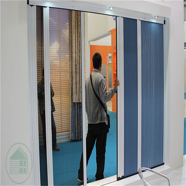 Honeycomb fabric + Pleated insect mesh trackless screen <strong>door</strong>