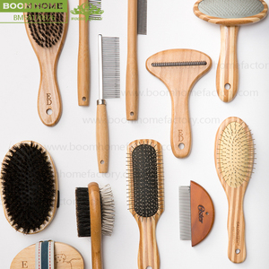 Quality products bamboo pet brush kit remove pet hair dog grooming brush cat massage