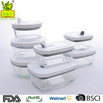 Storage Boxes Bins Type And Glass Material Food Container With