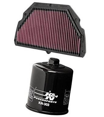K&N Motorcycle Air Filter + Oil Filter Combo 1999 2000 Honda CBR600F4 HA-6099 + KN-303