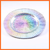 Promotional beautiful design dessert glass plate /high quality glass dish