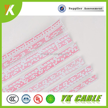 PVC flat ribbon ul awm 2468 26awg copper electrical wire