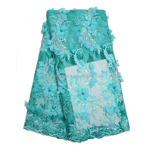 Fashion Sequins French Lace Fabrics Chemical thailand lace fabrics For Wedding