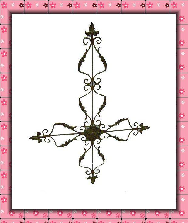 Pared de metal cruces hierro forjado decoraci n hecha a for Decoracion hogar al por mayor